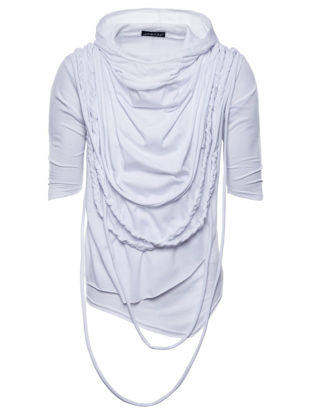 Picture of Men's Hooded T-Shirt Solid Color All Match Breathable Classic Top - Size: M