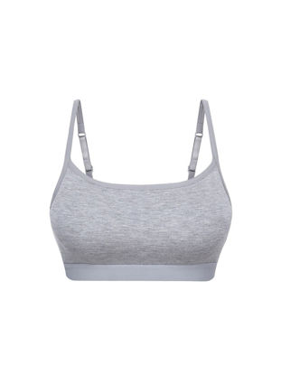 Picture of One Piece Women's Sleep Bra Wireless Solid Color Anti Exposure Breathable Sports Bra - Size: XL