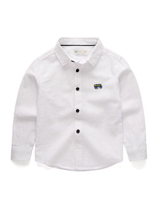 Picture of Boy's Shirt Comfy Button Long Sleeve All Match Fashion Top - Size: Reference Height:130cm