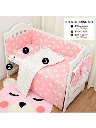 Picture of Baby's 3 Pcs Set Bedding Cartoon Pattern Fresh Style Soft Comfy Baby's Bedding - Size: One Size