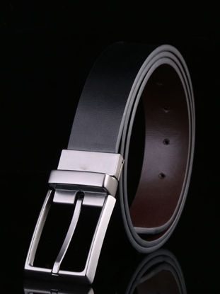 Picture of Men's Belt Fashion Pin Buckle Solid Color Accessory - Size: 105cm