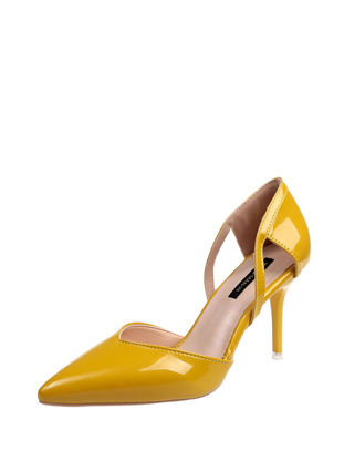 Picture of Women's High Heeled Pumps Thin Heels Ladylike Solid Color Stylish Pointed Toe Shoes - Size: 38