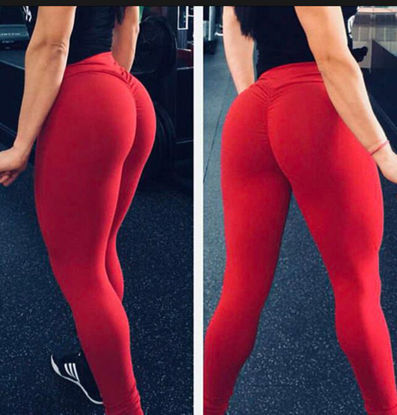 Picture of Women's Legging High Waist Solid Color Casual Pants - Size: XL