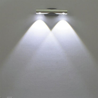Picture of LED Wall Lamp Simple Double Head 360° Rotating Bedside Lamp