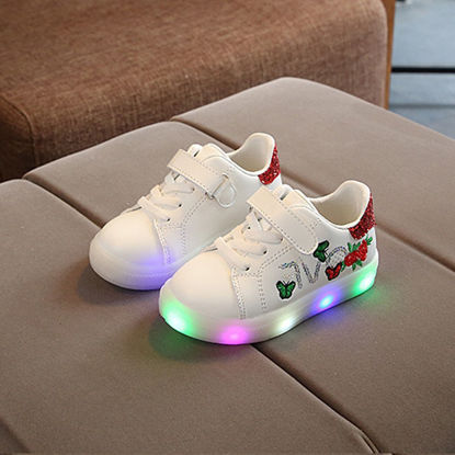 Picture of Unisex's Light-Up Shoes Casual Colorblock Round Toe Shoes - Size: 30