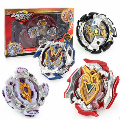 Picture of 16 Pieces Spinning Tops Gyro Against Battle Disc Arena Set - Size: One Size