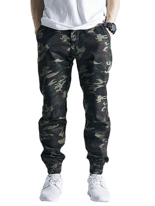 Picture of AKARMY Men's Casual Pants All Matched Comfy Camouflage Cargo Pants - Size:40