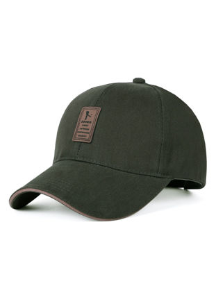Picture of Men's Baseball Hat Outdoor Solid Color Comfort Sunlight-proof Simple Hat Accessory - Size:One Size