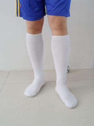 Picture of Adult's Football Socks Outdoor Solid Color Unisex Soccer Socks