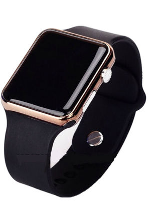 Picture of Men's Watch Sport Casual LED Digital Clock Silicone Band Wristwatch - Size:One Size