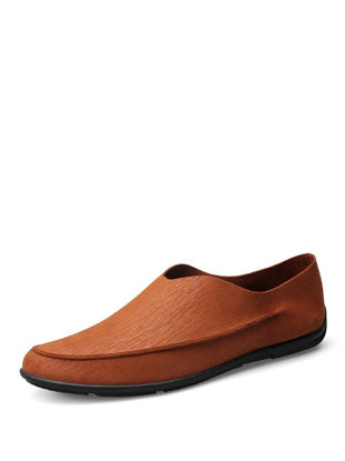 Picture of Men's Leather Loafers Solid Color Fashion All Match Breathable Casual Slip-Ons - Size:40