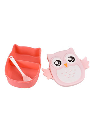 Picture of 1Pc Lunch Box Cartoon Owl Shape Design Adorable Durable Lunch Box - Size:One Size