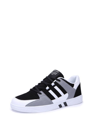 Picture of Men's Sneakers Lace Up Color Block Patchwork Fashion Simple Shoes - Size:43