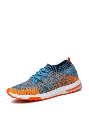 Picture of Men's Running Shoes Damping Comfy Skidproof Low Cut Flyknit Air Cushion Shoes - Size:45