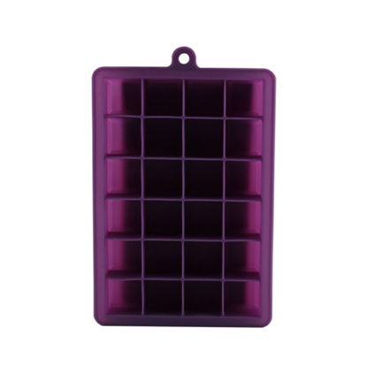 Picture of 1Pc DIY Silicone Ice Cube Mold 24 Square Shape Cavities Ice Tray Pudding Mold - Size:One Size
