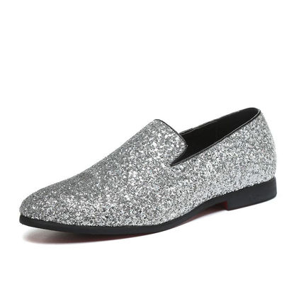 Picture of Men's Loafers Simple Sequins Decor Breathable Casual Shoes - Size:41
