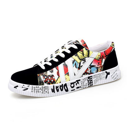 Picture of Men's Sneakers Casual Lacing Design Print Wearable Shoes - Size:42