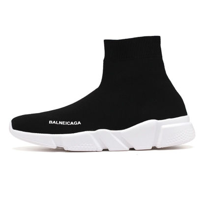 Picture of Men's Sports Fashion Shoes High Top Soft Sole Comfy Running Shoes - Size:42