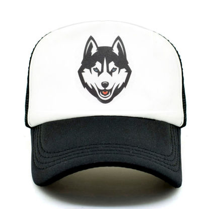 Picture of Men's Hat Wolf Pattern Patchwork Baseball Cap - Size:One Size