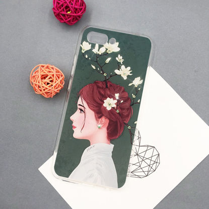 Picture of Huawei P20 Pro/ P9 Lite/P10 Plus/Mate 9 Phone Cover Cartoon Lady Pattern Phone Case - Size:HUAWEI MATE7