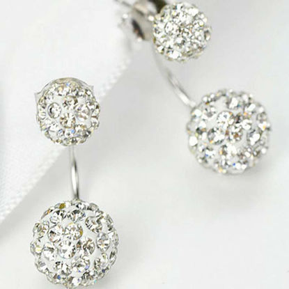 Picture of 1 Pair Women's Studs Exquisite Stylish Elegant Earrings Accessory - Size:One Size