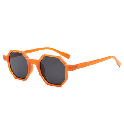 Picture of Men's Sunglasses Octagon Shape Frame Polarized Wayfarer Glasses Accessory - Size:One Size