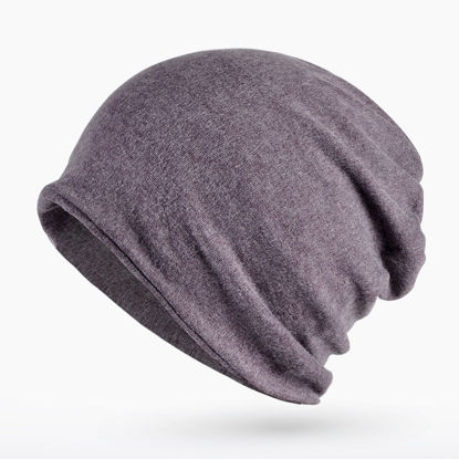 Picture of Unisex Hat Simple Style Solid Color Windproof Protection Dual-Use Warm Hat - Size:One Size