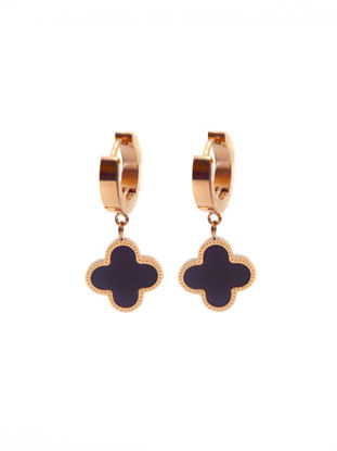 Picture of Women's Eardrop Graceful Four Leaf Clover Design Earings Accessory
