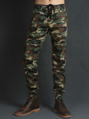 Picture of AKARMY Men's Canvas Pants All Match Outdoor Comfy Canvas Pants - Size:33