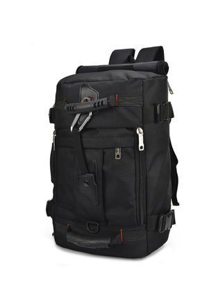 Picture of Men's Travel  Bag Solid Color Patchwork Large Capacity Canvas Bag - Size:One Size
