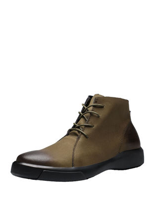 Picture of Men's Martin Boots Retro Style Comfy All Match Shoes - Size:41