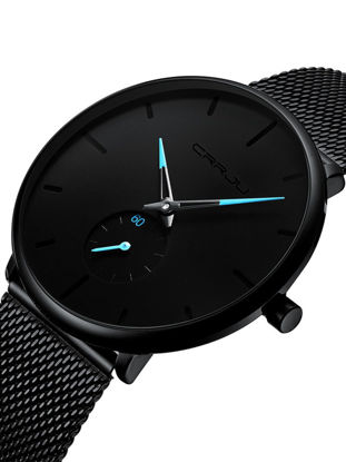 Picture of Men's Quartz Watch Round Dial Stainless Steel Band Fashion Quartz Watch - Size:One Size