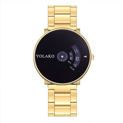 Picture of Men's Quartz Watch Pointer Display Waterproof Steel Band Watch Accessory - Size:One Size