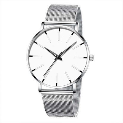 Picture of One Piece Men's Quartz Watch Fashion Casual Simple Ultra Thin Business Mesh Belt Watch - Size:One Size