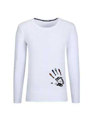 Picture of Men's T Shirt Long Sleeve Casual T Shirt - Size: XXL