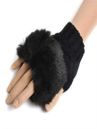 Picture of Women's Warm Gloves All Matched Patchwork Fashion Accessory - Size: Free