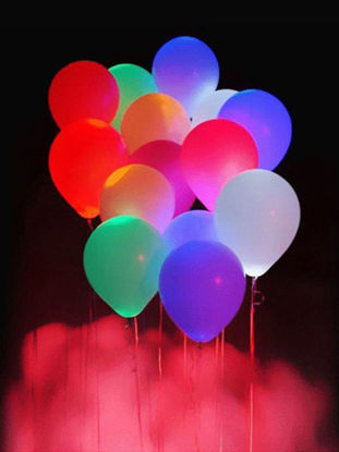 Picture of 10Pcs Light Balloon Mixed Colors Decorative Colorful LED Balloons Light