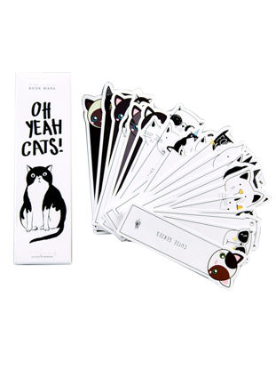 Picture of 30Pcs Cute Cartoon Bookmarks Lovely Cat Pattern Literary Bookmarks