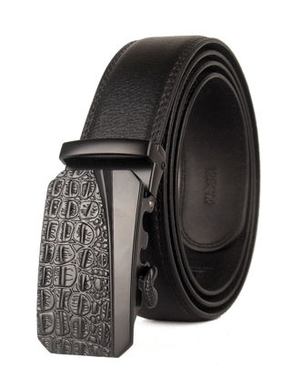 Picture of Men's Belt Fashion Automatic Buckle Business Casual Accessory - Size: One Size