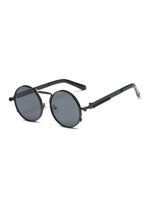 Picture of Men's Sunglasses Vintage Style Round Circle Frame Design Stylish Sunglasses Accessory - Size: One Size