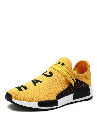 Picture of Men's Sports Fashion Shoes Breathable Letter Pattern Colorblock Shoes - Size: 40