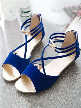Picture of Women's Wedge Sandals Open Toe Stylish Casual All Match Wedge Sandals - Size: 39
