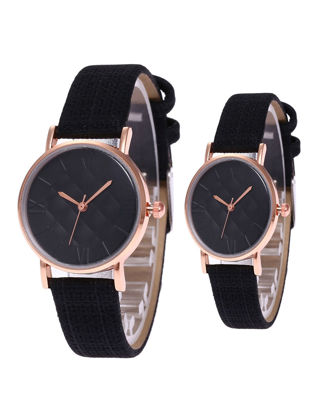 Picture of Couple Watches 2 Pcs Round Dial Analog Simple Womens Accessories - Size: One Size