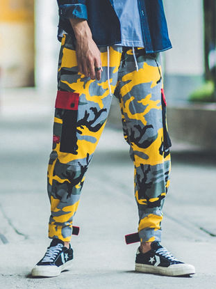 Picture of Men's Adjustable Ankle-tied Casual Pants Comfy Fashion Leisure Trousers - Size: XL