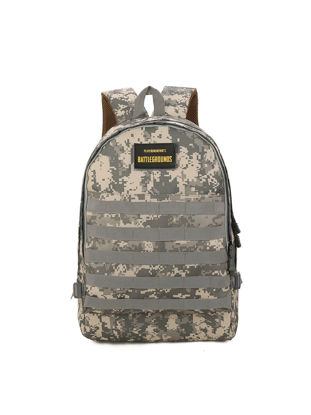 Picture of Men's Backpack Casual Stylish Camouflage Large Capacity Zipper Bag - Size: One Size