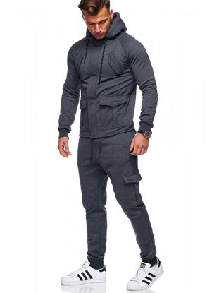 Picture of 2 Pcs Men's Pants Set Sports Quick Drying Anti-Friction Comfy All Match Leisure Classic Set - Size: L