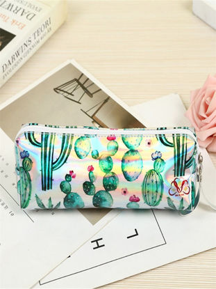 Picture of 1Pc Cactus Pattern Pencil Case Laser School Supplies - Size: One Size