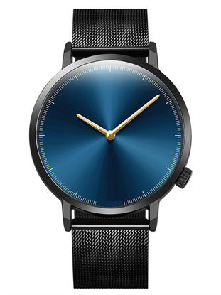 Picture of Men's Watch Fashion Simple Design Stainless Steel Round Dial Chic Quartz Watch - Size: One Size