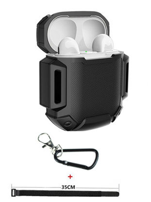 Picture of Headphones Protective Case For Airpods With Strap Shockproof Silicone Earphone Cover
