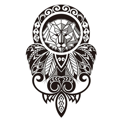 Picture of Men's Tattoo Sticker Lion Pattern Waterproof Temporary Creative Tattoo - Size: One Size